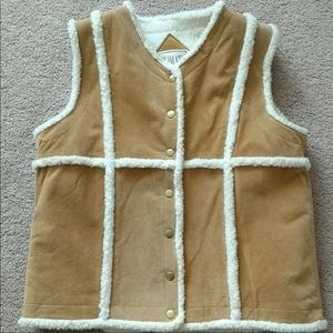 Climate Zone suede leather vest